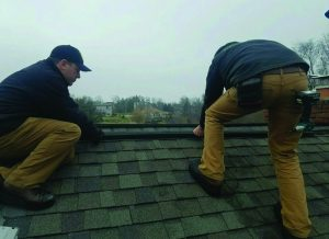 Ridge-Guard™ Installation in an asphalt roof.
